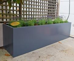 Planter L 2100 x W 550 x H 550mm in RAL [Slate grey]