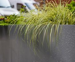 Bespoke powder coated planters, Manchester city centre