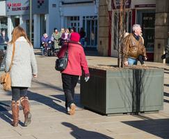 Steel tree planters for Cheltenham High Street