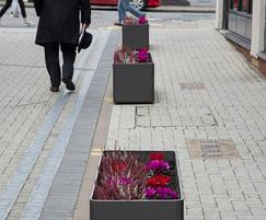 Fbre-reinforced concrete street planters - rectangular