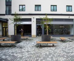 FRC planters in shopping area