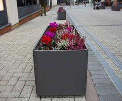 Rectangular fibre-reinforced concrete planters