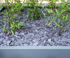 Bespoke powder coated steel planters