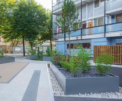 Complex, bespoke steel planter designs, Isle of Dogs
