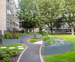 Bespoke steel planters designed for Parkside Quarter