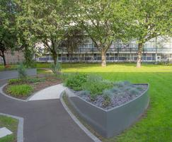 Bespoke steel planters for residential development