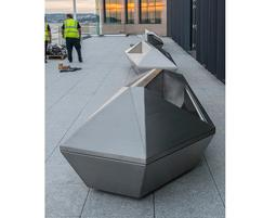 Sculptural planter-benches for the Royal Bank of Canada