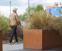 Corten steel planters for town centre