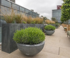 Bespoke planters for roof terrace