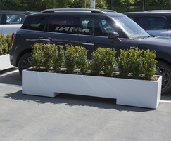 Polyester powder coated planter in white