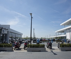 28 planters were supplied to  car dealership