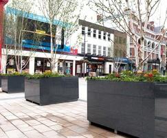 Granite tree planters L 1600 x W 1600 x H 900mm