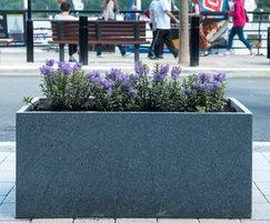 Granite trough planter