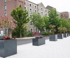 Granite Trough 1000 and Cube 600 planters