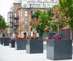 Granite planters for council