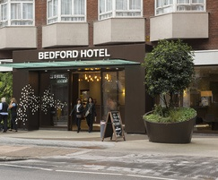 5 bespoke steel planters supplied to Bedford Hotel, WC1