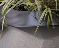 Zintec steel planter powder-coated to Tiger Drylac C34