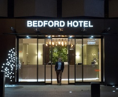 Bedford Hotel entrance, London WC1
