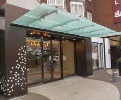 Glass entrance canopy