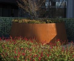 Karge bespoke corten steel planter