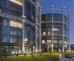 Iconic Gasholders development, Kings Cross, London