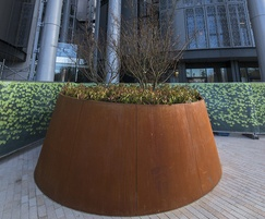 Large corten steel planter