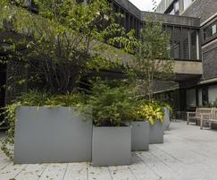 Bespoke planters in communal courtyard gardens
