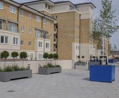 Bespoke steel planters - Hamilton Quay, Eastbourne