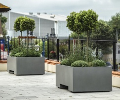 Planters are designed to be moved by forklift