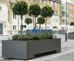Bespoke steel planters -Hamilton Quay, Eastbourne