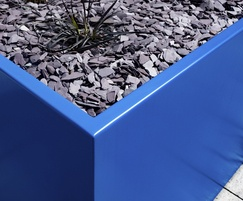 Bespoke zintec steel planter, Hamilton Quay, Eastbourne
