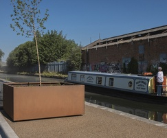 Corten steel tree planter - Tyseley Wharf