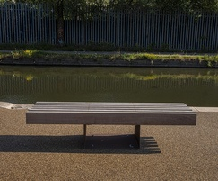 Corten steel seat - Tyseley Wharf