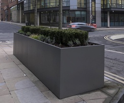 Bespoke steel planters - commercial development