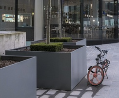 Bespoke steel planters - Manchester's tallest building