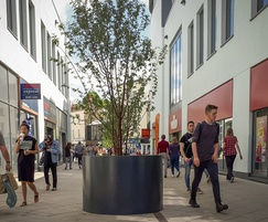 Bespoke aluminium tree planters - The Brewery Quarter