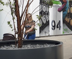 RAL 7016 [Anthracite grey] aluminium tree planter