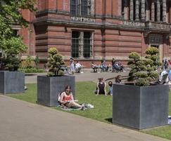 Tree planters for museum gardens