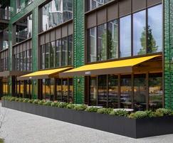 Bespoke steel planters for Darcy's restaurant, London