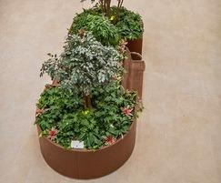 Bespoke corten steel planter - organic shape
