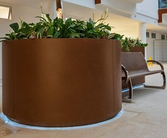 Provision for LED under-lighting on seat planter unit