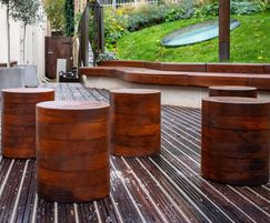 Solid timber stools