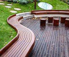 Waved timber seating requires precise CAD modelling