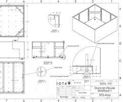 CAD drawings for steel planters