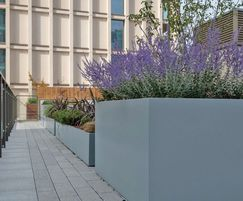 Polyester powder coated steel roof planters - RAL 7001