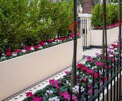 Bespoke aluminium planters for private London residence