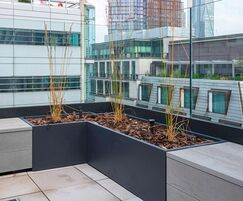 A total of 64m of planters and benches were made