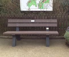 Porto recycled plastic bench