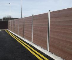 GovaWall® solid T&G recycled plastic fence system