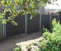 GovaWall® recycled plastic fence system